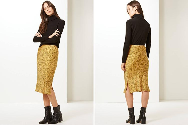 Marks & Spencer is selling a slip midi skirt in THAT yellow print for £35 – and it's expected to fly off the shelves