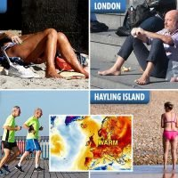 UK weather sees Brits bask in 22C and 65mph Storm Leslie set to make it even HOTTER next week