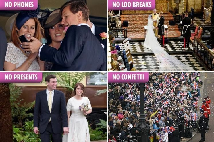 Why Princess Eugenie and Jack Brooksbank's wedding guests can't use the loo after 10am… and more things they're banned from doing