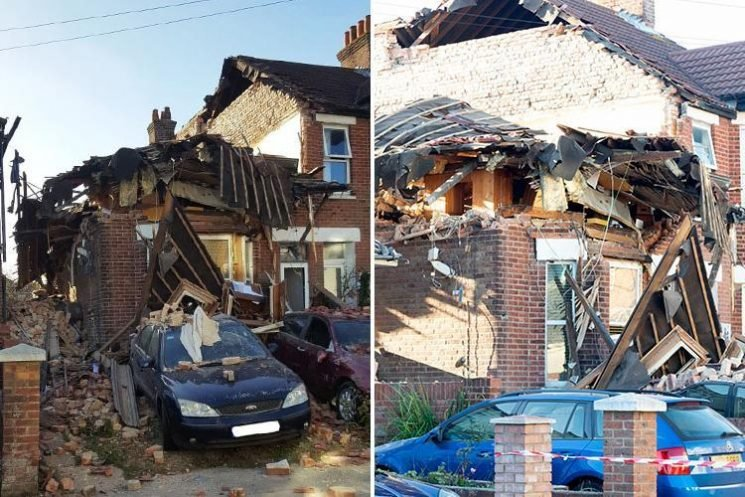 Two people injured after gas explosion that completely destroyed two homes in Poole