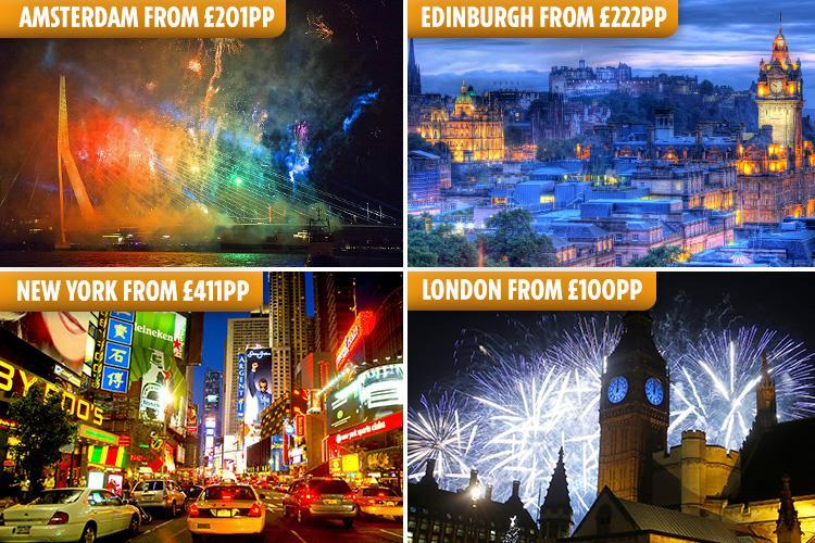 Cheap New Year's Eve breaks for 2018 / 2019 – from £100 per person in Edinburgh, Amsterdam, New York, Berlin and London