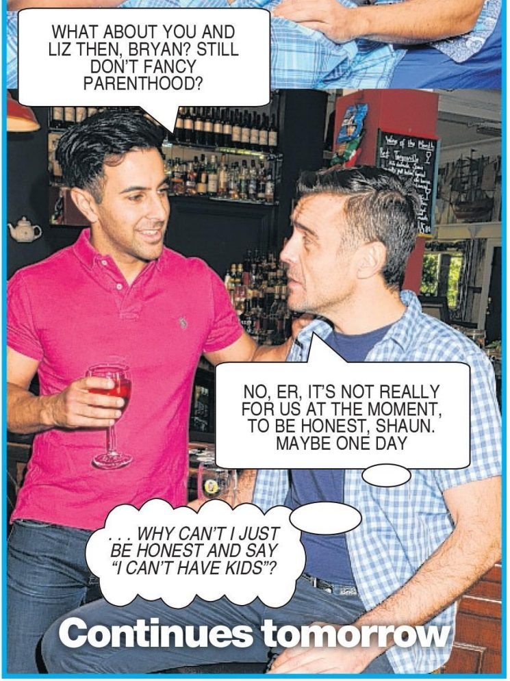 Bryan and Liz can't have kids because he has feritlity issues — Deidre's photo casebook