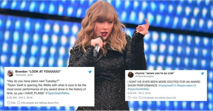 Taylor Swift Is Opening the American Music Awards, and Swifties Are Losing Their Cool