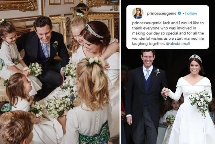 Princess Eugenie's adorable behind-the-scenes wedding snap – and Princess Charlotte steals the show again