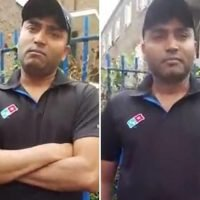 Moment Domino's pizza worker is snared by paedophile hunters after he sent '13-year-old girl' sex emojis