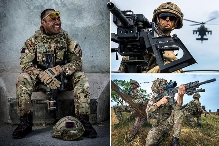 From Gurkhas wielding knives to camouflaged squaddies – incredible images reveal what life is like in the Army