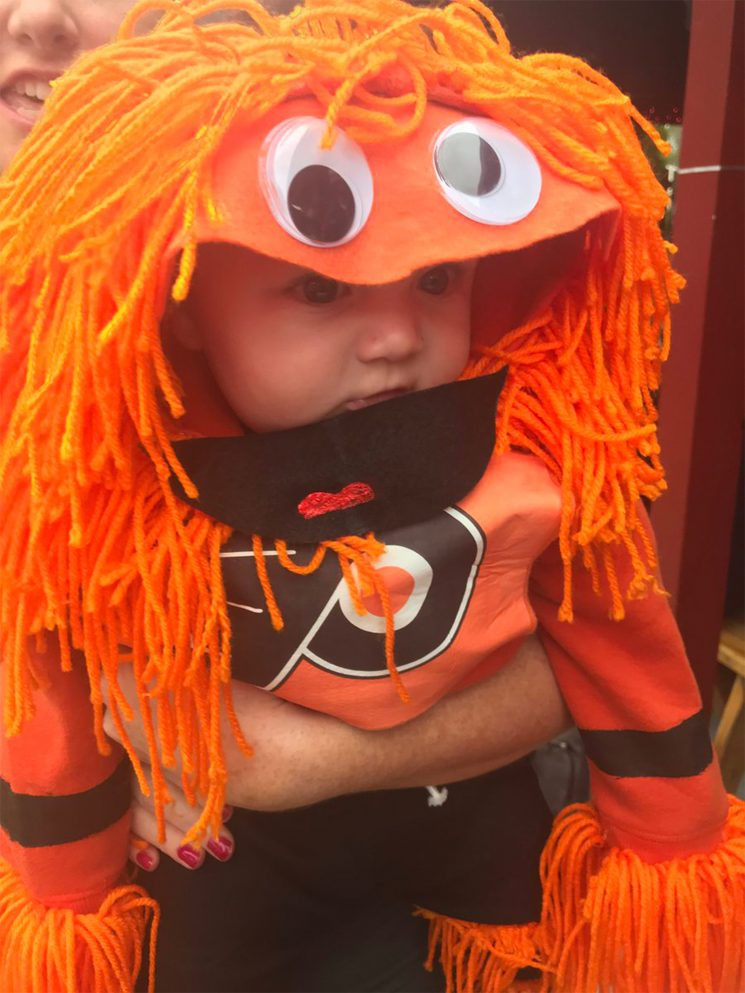 Someone Made a Baby Costume Version of Terrifying Flyers Mascot Gritty — and It's Actually Cute