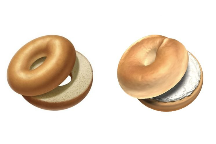 The New Bagel Emoji Now Has Cream Cheese on It, the Internet Rejoices