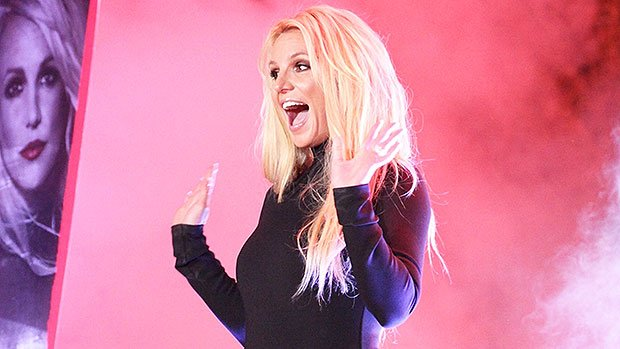 Britney Spears Goes Commando In Sexy Black Dress For Residency Announcement