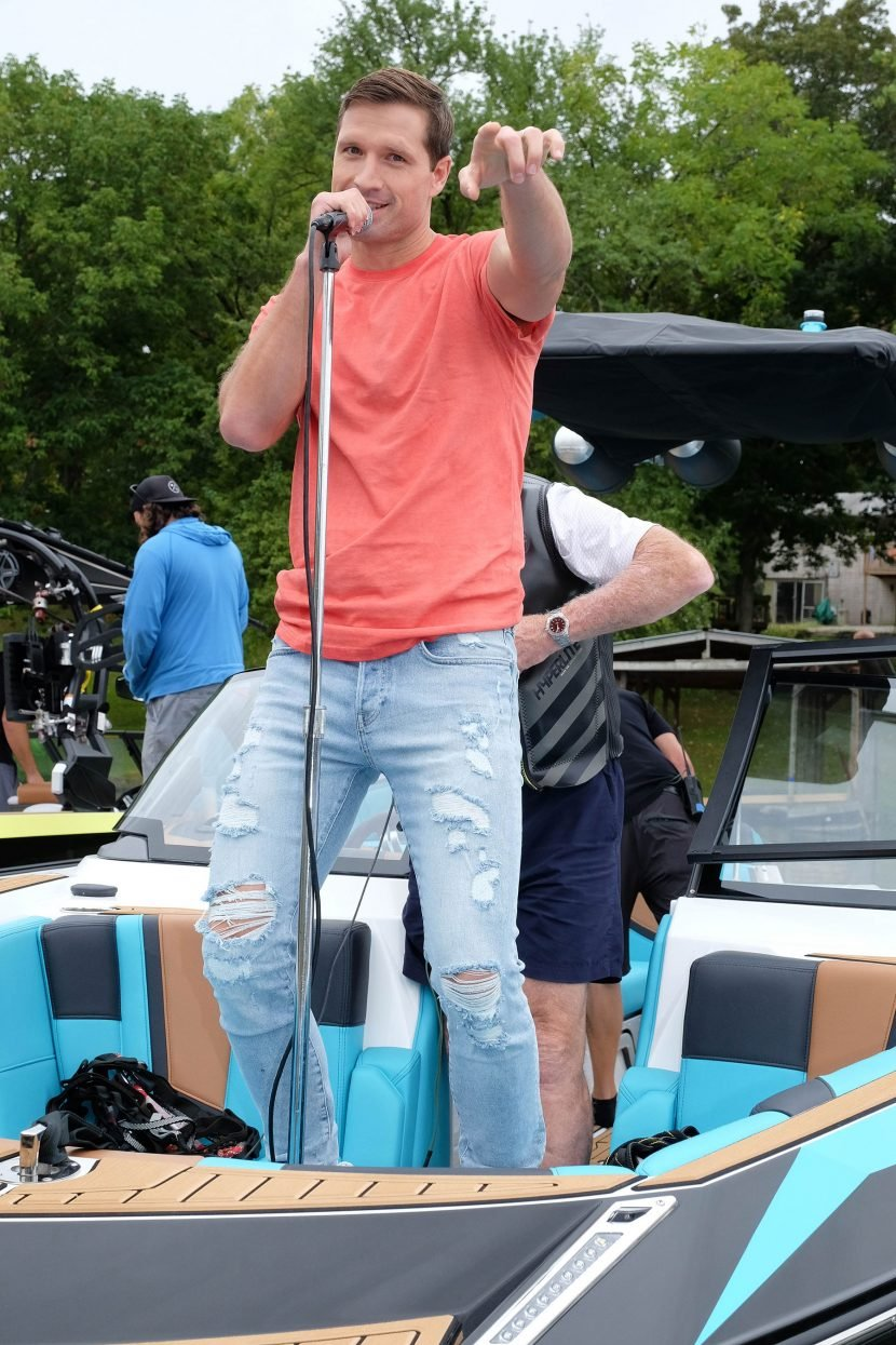 Keeping It Real! See Walker Hayes Wakeboard Behind the Scenes of His '90's Country' Video Shoot