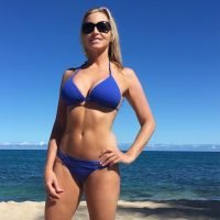 Camille Grammer, 50, Flaunts Her Fit Figure in Itsy Bitsy Blue Bikini in Hawaii