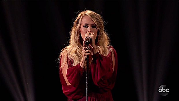 Carrie Underwood Gets Emotional During Stunning 'Spinning Bottles' Performance At AMAs
