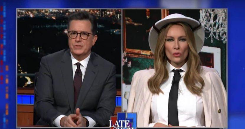 'Late Show' Melania Trump Confuses Colbert Even More While Trying to Make Sense of Contradictory ABC News Interview