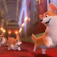 When is The Queen's Corgi released in the UK and who is in the cast?