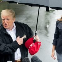 Trump Slammed For Hogging Umbrella While Melania Gets Soaked In The Rain On Florida Visit