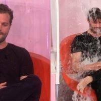 Jamie Dornan Gets Soakin' Wet for Charity on 'Ellen' (Video)