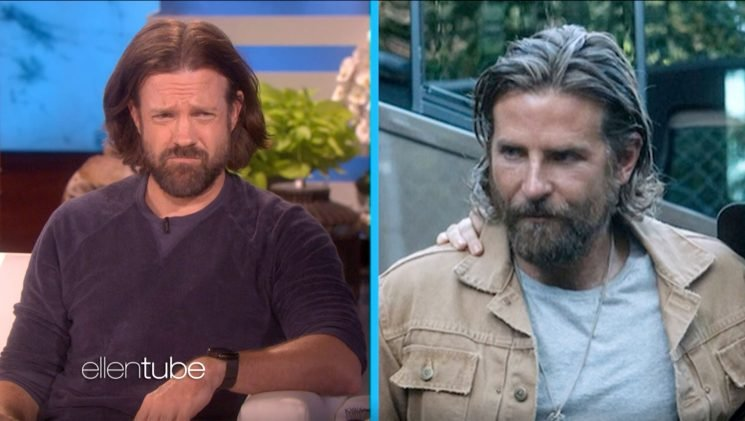 Jason Sudeikis impersonates Bradley Cooper in A Star Is Born on Ellen