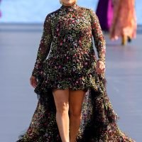 Eva Longoria Hits the Runway During Paris Fashion Week 3 Months After Giving Birth