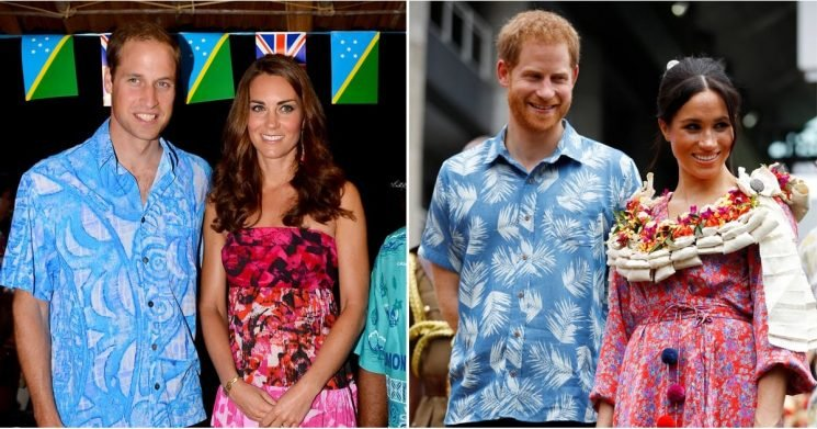 6 Years Later, Harry and Meghan Wore VERY Similar Outfits to William and Kate's in Fiji