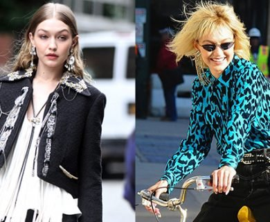 Gigi Hadid Is Unrecognizable With Bangs & Lighter Hair On Photo Shoot Set — Pics