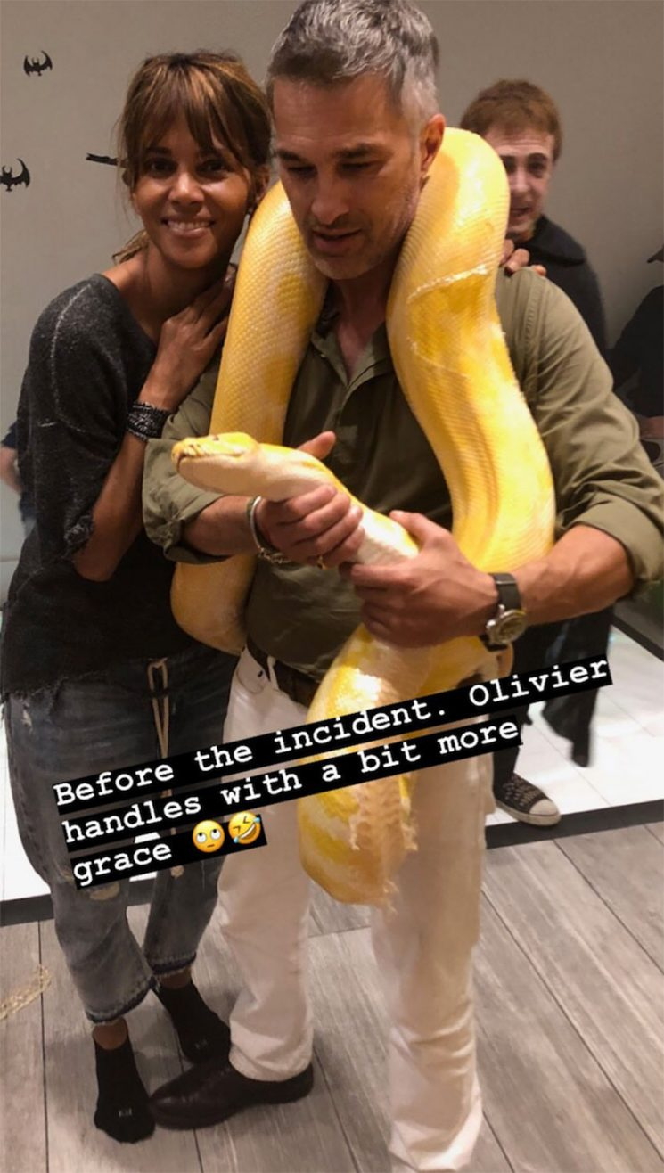 Halle Berry and Ex Olivier Martinez Reunite for Son Maceo's Halloween-Themed Birthday Party