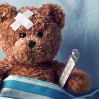 Brave Teddy Bear Undergoes Surgery