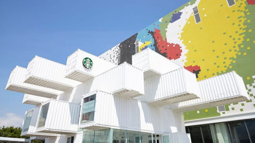 Starbucks Opens Breathtaking Eco-Friendly Store Made of Shipping Containers
