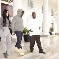 Kanye West Gifts Ugandan President Yeezy Sneakers and Claims He Wants 7 Children (Kim Does Not)