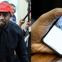 Kanye West Accidentally Reveals iPhone Passcode During White House Visit