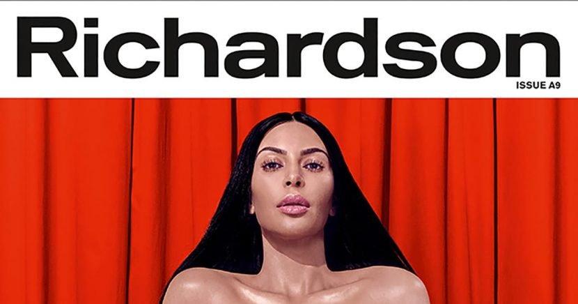Kim Kardashian Gets Naked, Talks Paris Hilton's Sex Tape and Trump In Richardson Magazine
