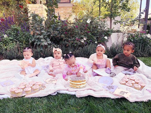 The Kardashian and Jenner kids dig into delicious cakes in very cute family snap