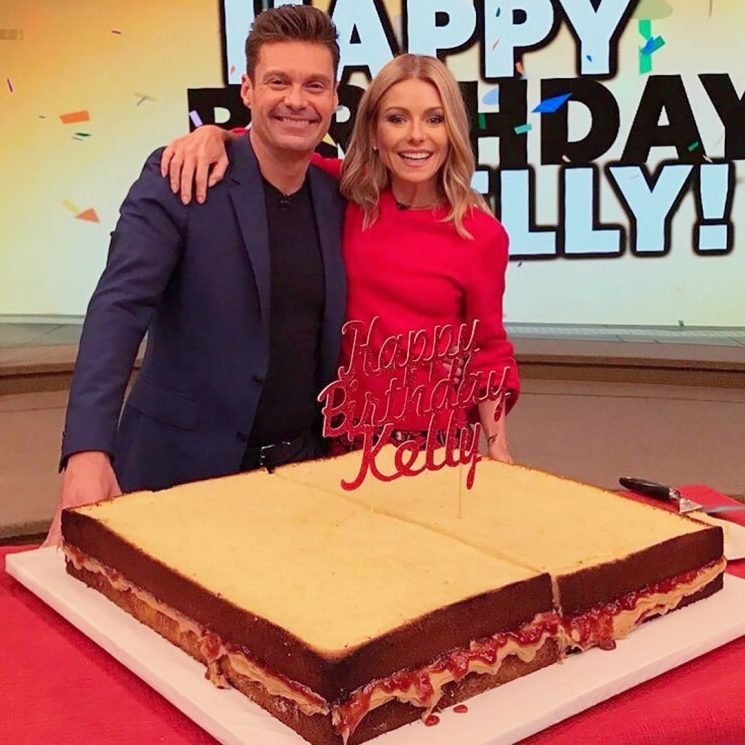 Kelly Ripa Turns 48 with 'the World's Largest Peanut Butter and Jelly Sandwich Birthday Cake'