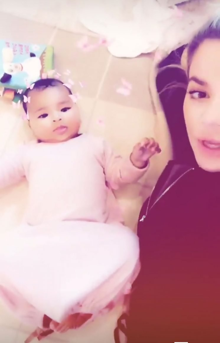 Khloé Kardashian Plays with Daughter True After Posting Cryptic Message About Staying Positive
