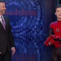 Tom Holland's Spider-Man Appears Alive and Well After 'Infinity War' and Jimmy Kimmel Wants Answers