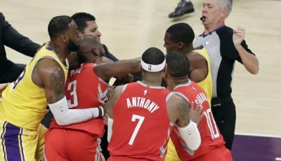 Two Lakers, One Rocket Suspended For Fighting – ESPN Has Best Opening Week Rating Since 2014