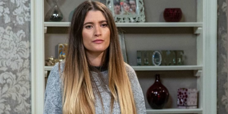 Emmerdale star Charley Webb reacts to Debbie Dingle's big confession and jail fears