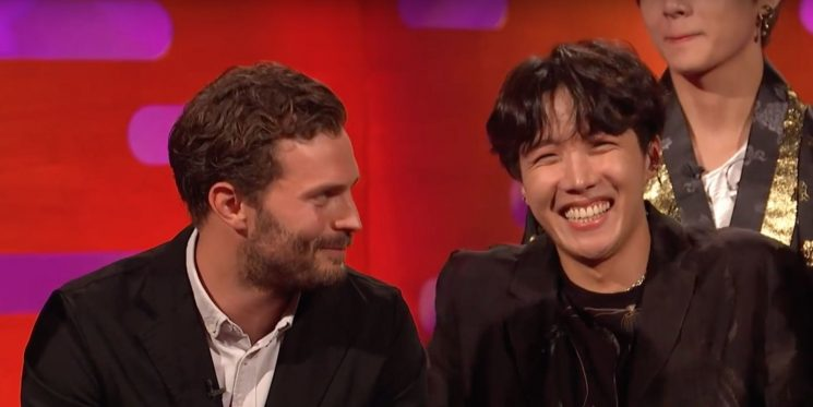 Watch Fifty Shades of Grey's Jamie Dornan pitch himself to join boyband BTS on Graham Norton Show