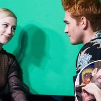 'Riverdale' Stars Lili Reinhart and KJ Apa Recreate '90210' Breakup Scene on 'WWHL' — As Luke Perry Judges