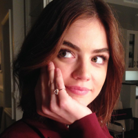 Lucy Hale's Blingy Pinky Ring Has an Amazing Backstory