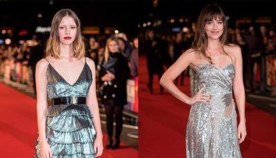 Dakota Johnson Vs Mia Goth — Both Rock Gorgeous Metallic Dresses On The Red Carpet