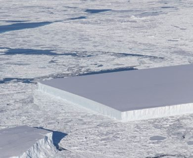 Bizarre, Perfectly Rectangular Block of Ice Spotted by NASA in Antarctica — See the Photo