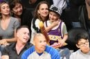 Game On! Natalie Portman and Her Son Aleph, 7, Take in the Lakers from Courtside Seats