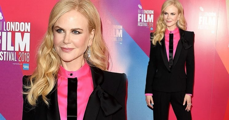 Nicole Kidman Suits Up For Film Fest In London