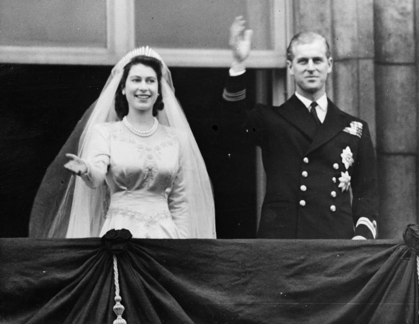 When did Queen Elizabeth II and Prince Philip get married, where was their wedding and how many children did they have together?