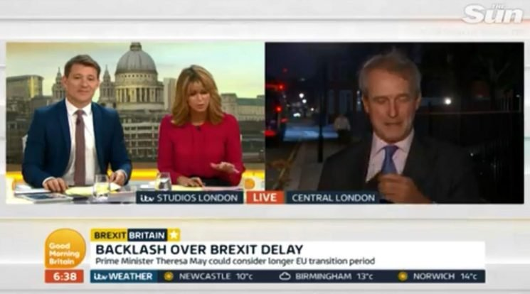 Kate Garraway tells off MP Owen Paterson for not having phone on silent before bin lorry drowns out tense Good Morning Britain interview
