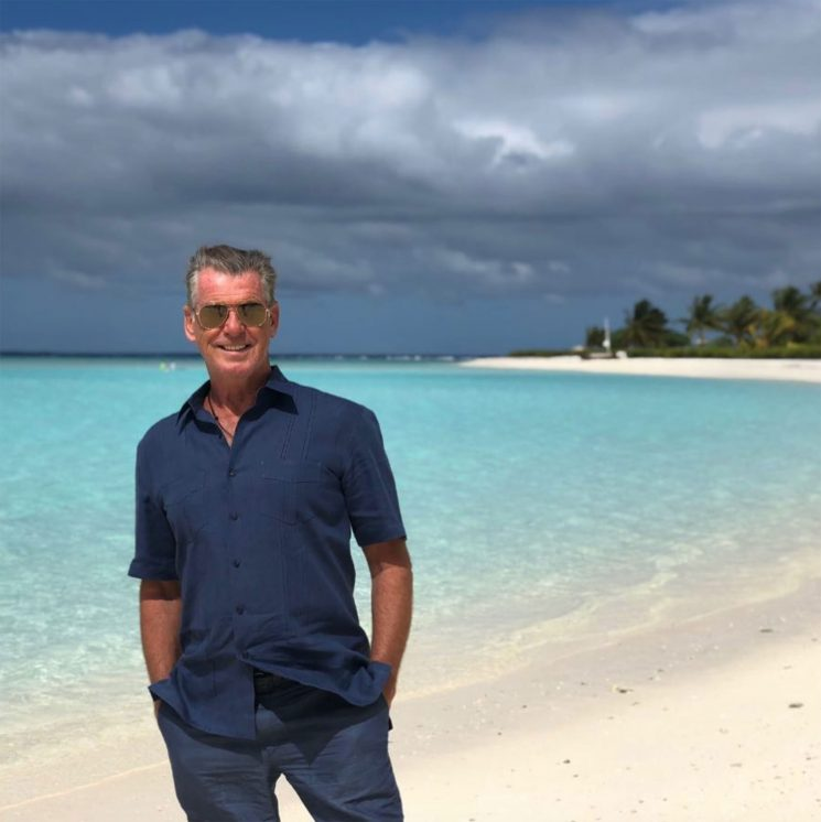 Pierce Brosnan Gets an Unexpected Visitor While on Vacation in French Polynesia — a Shark!