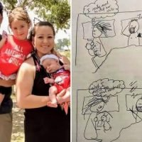 Breastfeeding mum draws hilarious cartoon to show why she's fed up with her 'useless' husband