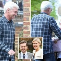 Philip Schofield and wife Stephanie visit Declan Donnelly and Ali Astall at home with baby gifts six weeks after daughter Isla is born
