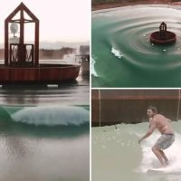 World's most advanced wave machine creates giant breaks that allow surfers to practice on whatever size waves they want