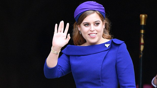 Princess Beatrice Looks Gorgeous As Her Sister Eugenie's Maid Of Honor In Navy Dress